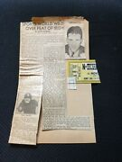 1935 Notre Dame Ohio State College Football Game Ticket Stub Game Of The Century