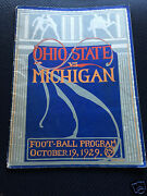 1929 Michigan - Ohio State College Football Game Program Wolverines Buckeyes Osu