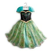 Disney Frozen Girls Size 9-10 Anna Deluxe Coronation Costume Dress New With Tags