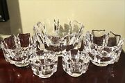 Five Orrefors Lars Hellstencorona Pieces, 3 Bowls And 2 Candle Holders