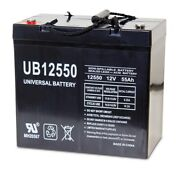 Upg Ub12550 12v 55ah Insert Terminal Battery For Drive Medical Hd2850hd-22