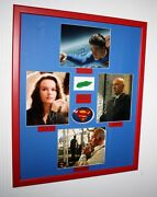 Superman Signed Autographs Routh Spacey Bosworth Langella + Kryptonite Prop