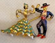 Lot Of Vintage Flamenco Dancers, Treasure Chest And Pirate Ship Brooches Pins