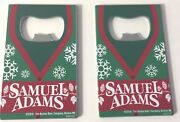 Samuel Sam Adams Winter Credit Card Bottle Opener Pewter Two 2 Pack New And F/s