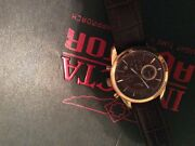 Men's Watch Great Buy New Lucien Picard Brown And Gold Very Nice Watch