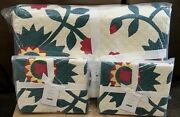 Pottery Barn Maisie Floral King Quilt 2 King Shams Holiday Christmas