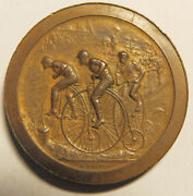 France Medal Ville De Lille By Dubois With First Bicycles Race Copper Rare
