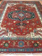 9and039 X 11and0399 New Indian Ser Api Oriental Rug - Hand Made - 100 Wool