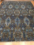 9'1 X 12'2 New Soft Melody Indian Oriental Rug - Modern - Hand Made 100 Wool