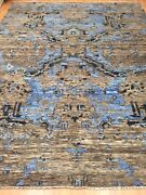 8'10 X 11'7 New Soft Melody Indian Oriental Rug - Modern - Hand Made 100 Wool