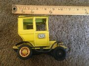 Vintage Tin Friction Sign Of Quality Japan Taxi Antique Car Toy