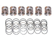 6 Pistons And Rings .020 Size 1953-1962 Chevrolet 235 53 54 55 56 57 58 59 60 62