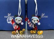 Extremely Rare Set 2016 And 2018 Mickey Mouse Ornament 5135938+ 541284