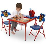 Kids Table Paw Patrol Chair Childrens Furniture Set Crafts Color Paint Play Room