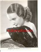 Vintage Barbara Stanwyck Gorgeous Glamour Early 30s Wb Publicity Portrait
