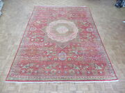 9and0399 X 13and0399 Hand Knotted Egyptian Geometric Red Mamluk Fine Oriental Rug G6943