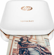 New Hp Sprocket Printer, Case And 80 Sheets Of Photo Paper
