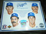 Los Angeles Dodgers Poster...the Record Setting Infield 1992 Limited Ed.