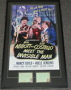 Bud Abbott And Lou Costello Dual Signed Framed 28x46 Poster Display Jsa