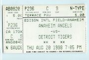 Darin Erstad, Gary Disarcina, Troy Glaus 3 Hits Ticket Tigers At Angels 8/20/98