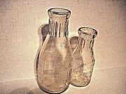 Rare Toulsley Dairy Naperville Ill Embossed Qt. And Pint Milk Bottleand039s