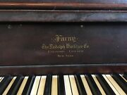 Antique Wurlitzer Upright Player Piano With Extras