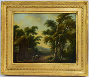 Old Master Painting Oil On Cardboard John Constable 1776-1837