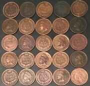 1894 Indian Head Cents//three 3 Coin Lot//avg Circ//fast Shipping