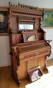 Antique Victorian Collins And Armstrong Pump Parlor Organ Intricate Ornate
