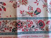 Bailey And Griffin Uk Hand Print Fabric Polished Cotton Patrice Floral/borders