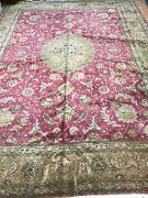 9and0399 X 13and0392 Antique Turkish Oriental Rug - 1940s - Hand Made - 100 Wool