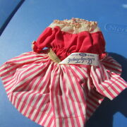 Shirley Temple Doll Clothes Play Suit Striped Skirt 2 Piece Rare 1958 Ideal 12