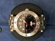 Tonino Lamborghini Mens Watch Limited Edit. Silver Case And Black Face Great Cond.