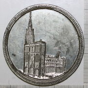 Strasbourg Cathedral Completed 1439 Medallion Medal In White Metal 3242530m3