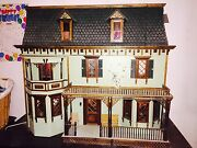 3and039 High Electric Lit 32 Y/o Victorian Dollhouse