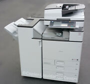 Ricoh Mp C5503 Color Copierplus Staple Finisher 55 Ppm Very Low Meter Unit And039fr
