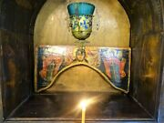 Antique Russian Orthodox Icon Holy Face Of Jesus Christ 19th Century.