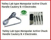 Valley Lab Type Surgical Monopolar Chuck Handle For Cautery With 4 Elec.. Dfhf