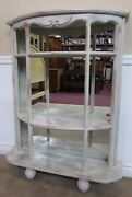 Half Moon Demi Lune Shelves Credenza Etagere Curio Display Console Solid Wood