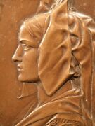 Antique Bronze Medal Art Deco Signed By Artist Prudhomme French Ww1 Alsace Art