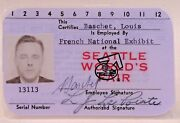 French Natand039l Exhibit Lilac Employee Id Card 1962 Worlds Fair Century 21 Seattle