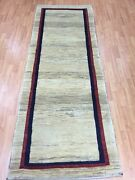 2and0399 X 7and0399 New Indian Tribal Floor Runner Oriental Rug - Hand Made - Veg Dye
