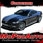 2015-2017 Contender Ford Mustang Wide Center Hood Stripe 3m Vinyl Graphic Decal