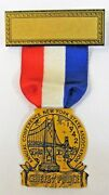 1942 Chiefs Of Police New York Figural Celluloid Fob Badge Pinback +