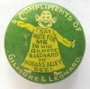 1890's Yellow Kid Gilmore And Leonard Comic Strip Celluloid Pinback Button
