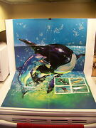 1990 Usps Postage Stamp Posters Dolphins Rhode Island Eisenhower Native American