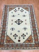 3and0397 X 5and039 New Fine Indian Tribal Oriental Rug - Hand Made - 100 Wool - Veg Dye