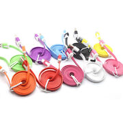 For Android Mobile1m/3ft Flat Noodle Micro Usb Charger Sync Data Cable Sx11