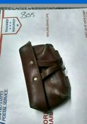 Russian Sks Black Leather Pigskin Ammo Pouch Naval Infantry Wow