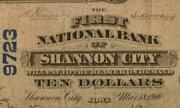 Shannon City, Iowa Ia 1902 Pb 10.00 Ch. 9723 The First National Bank